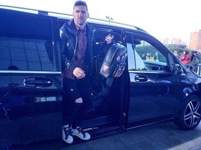 Messi llega a la concentración