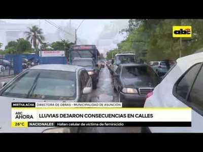 Lluvias dejaron consecuencias en las calles