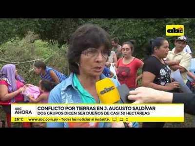 Conflicto por tierras en J. Augusto Saldivar