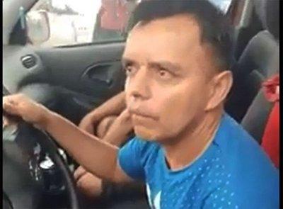 Policía conducía borracho