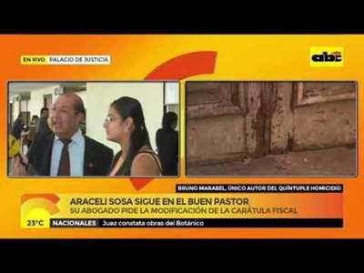 Aracely Sosa sigue en el Buen Pastor