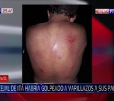 Concejal de Itá golpeó brutalmente con una varilla a sus padres