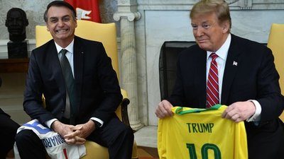 Donald Trump y Jair Bolsonaro se reúnen en la Casa Blanca