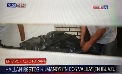 Hallan cuerpo descuartizado y distribuido en valijas