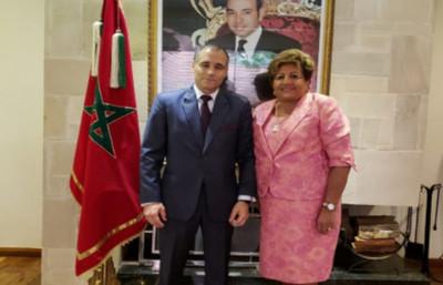 Ministra del TSJE visitó a diplomático del Reino de Marruecos