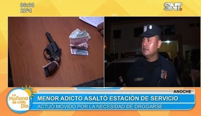 Adolescente asalta estación de servicios con arma de juguete