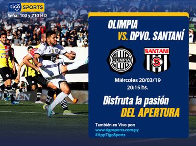 Olimpia mide a Deportivo Santaní en Para Uno