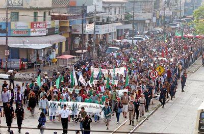Policía inicia operativo de seguridad por marcha campesina