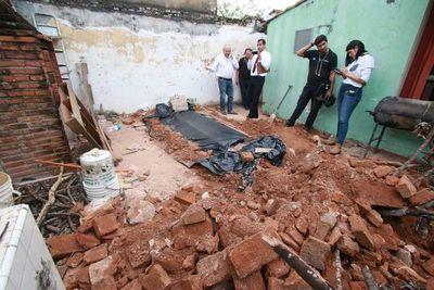 Bomberos no hallaron restos humanos en fosa de vivienda capitalina