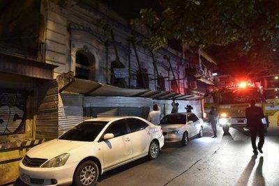 Obrero sufre accidente en el centro de Asunción