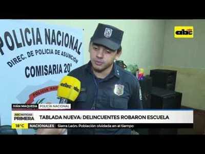 Tablada Nueva: Delincuentes robaron escuela