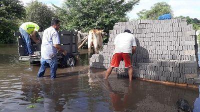 Desborde de río ocasiona millonarias pérdidas a oleros en San Pedro
