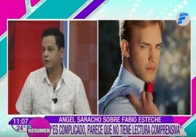 """Ángel Saracho habló de su cruce con el """"Ken Paraguayo"""""""
