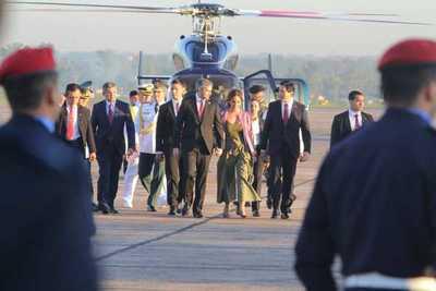 Presidente viajó a Chile para reunirse con sus pares sudamericanos e impulsar el Prosur