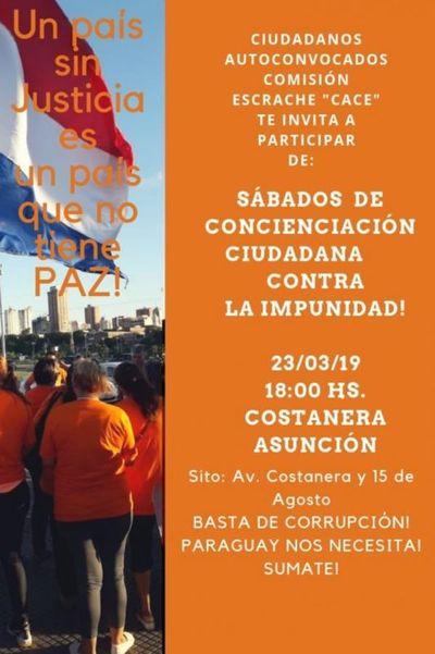 Anuncian movilización para este sábado en Costera