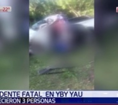 Ya son tres las víctimas fatales tras vuelco de camioneta en Yby Yaú