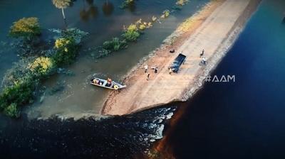 Paso Barreto lucha por sobrevivir bajo agua
