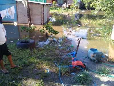 Sector sur de Concepción ya está afectado por creciente