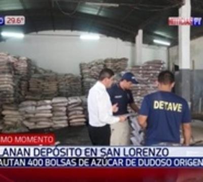 Decomisan 200.000 kilos de azúcar de contrabando en San Lorenzo