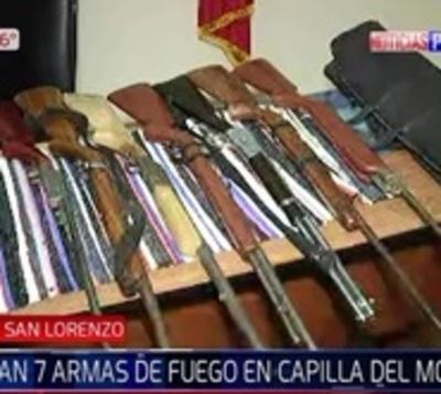 Incautan 7 armas de fuego de vivienda en Capilla del Monte