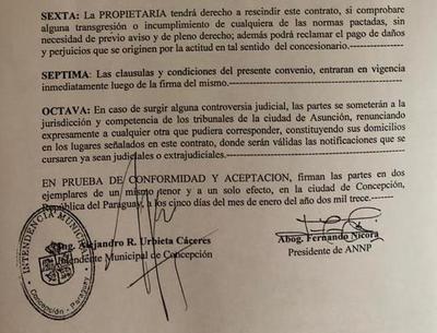 Intendente no recuerda haber firmado contrato de concesión de puerto a la ANNP