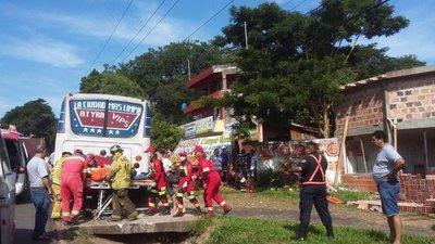 Accidente deja un herido grave en Itauguá