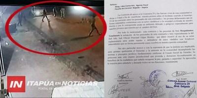GRAL. DELGADO: VIDEO MUESTRA CÓMO ATACAN AL SUB JEFE DE COMISARÍA