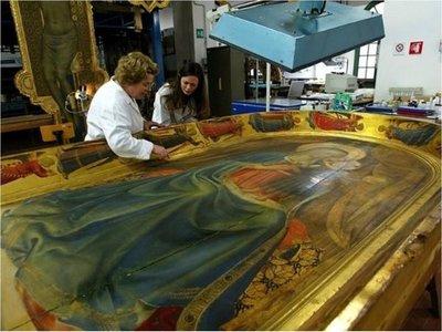 Descubren pintura de Botticelli bajo un siglo de barniz