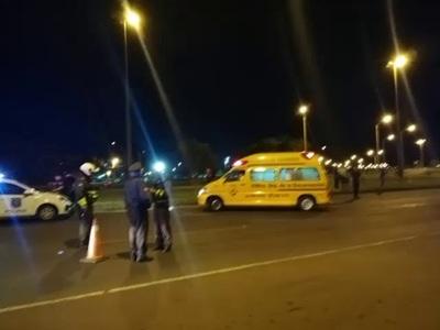 MOTOCICLISTA ALCOHOLIZADO ATROPELLA A AGENTE DE LA CAMINERA