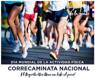 """""""El deporte nos une"""" será el lema oficial de la Correcaminata Nacional, como conmemoración por el Día Mundíal de la Activida"""