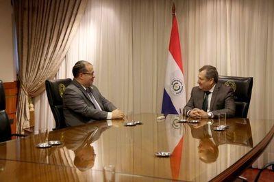 Presidente de la Corte se reunió con embajador de la OEA.