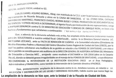 Amplían denuncia por corrupción en CRECE e incluyen a exministro