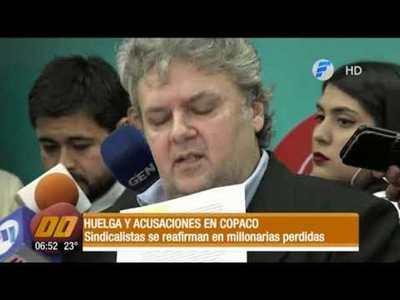Huelga y acusaciones en Copaco