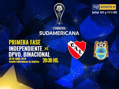 Independiente de Avellaneda debuta en la Sudamericana