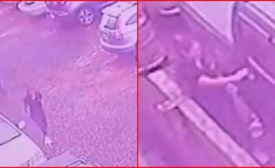 Mujer hurta camioneta en estacionamiento de churrasquería