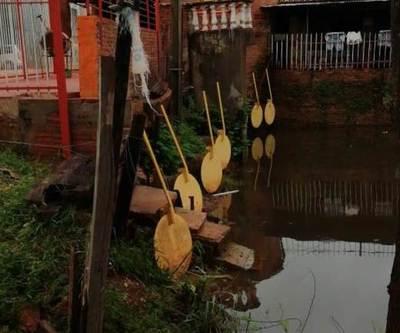 Vecinos de Zanja León también se llevaron gran susto con la lluvia