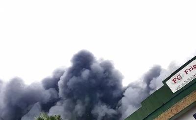 Incendio de gran magnitud en frigorífico de Loma Plata: 650 personas quedarían sin empleo