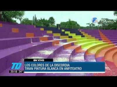 Pintata de anfiteatro en Ciudad del Este genera polémica