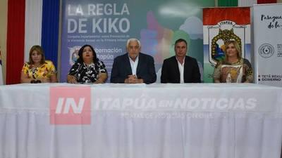 ITAPÚA PRESENTA SU PLAN DEPARTAMENTAL DE NIÑEZ Y ADOLESCENCIA.