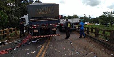 Aparatoso accidente en Coronel Oviedo