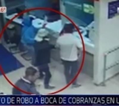 Intento de asalto a sucursal bancaria en supermercado de Luque