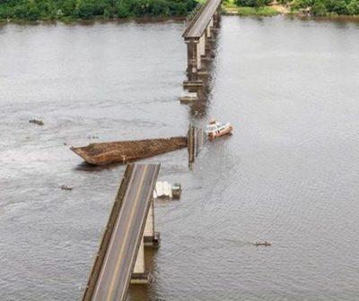 Puente colapsa en Brasil