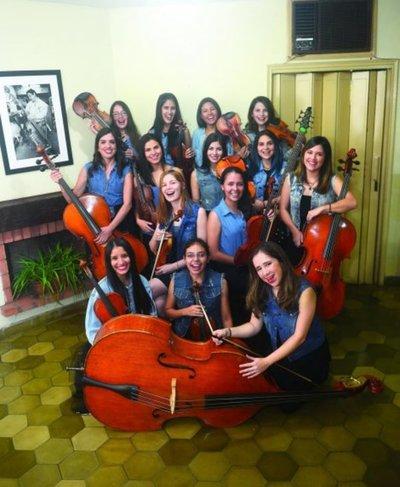 Primera orquesta de mujeres del Paraguay