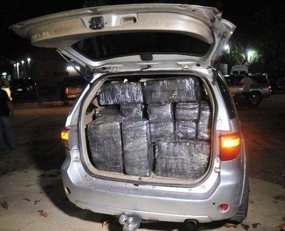 Detectan convoy con 1.050 kilos de marihuana en Villeta