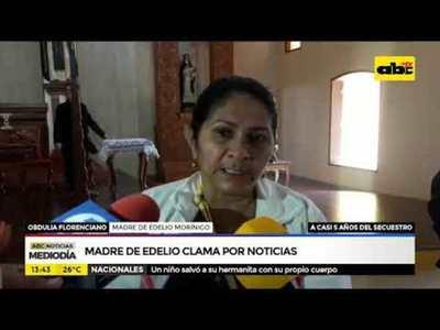 Madre de Edelio clama por noticias