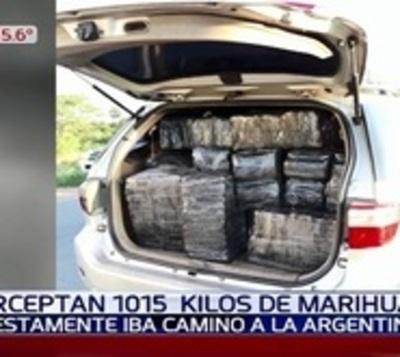Once detenidos y más de 1.000 kilos de marihuana incautada en Villeta