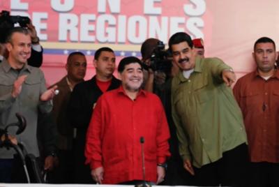 HOY / Maradona es sancionado por declaraciones a favor de Maduro y contra Trump