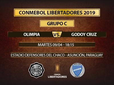 Olimpia recibe a Godoy Cruz en Sajonia