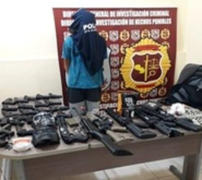 Adolescente de 14 años robó arsenal de una armería