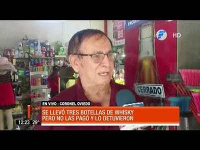 Salió de la cárcel y fue a robar whisky